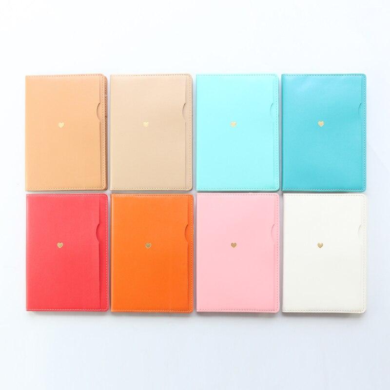 Domikee 2019 nova agenda agenda agenda agenda do escritório de couro bonito organizador caderno papelaria, planejador diário estudante doces para meninas