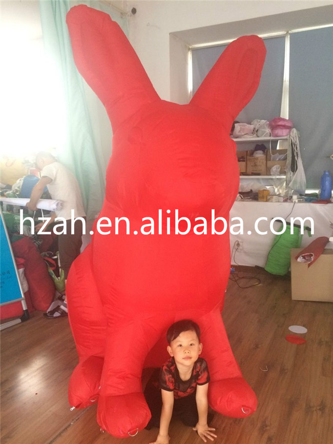 2m Inflatable Red Bunny Cartoon Model with LED Light funny summer inflatable water games inflatable bounce water slide with stairs and blowers