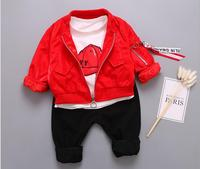 Baby Tracksuit Set Spring 2018 Baby Boys Clothes Set 3pcs Jacket T Shirt Pants Baby Outfit