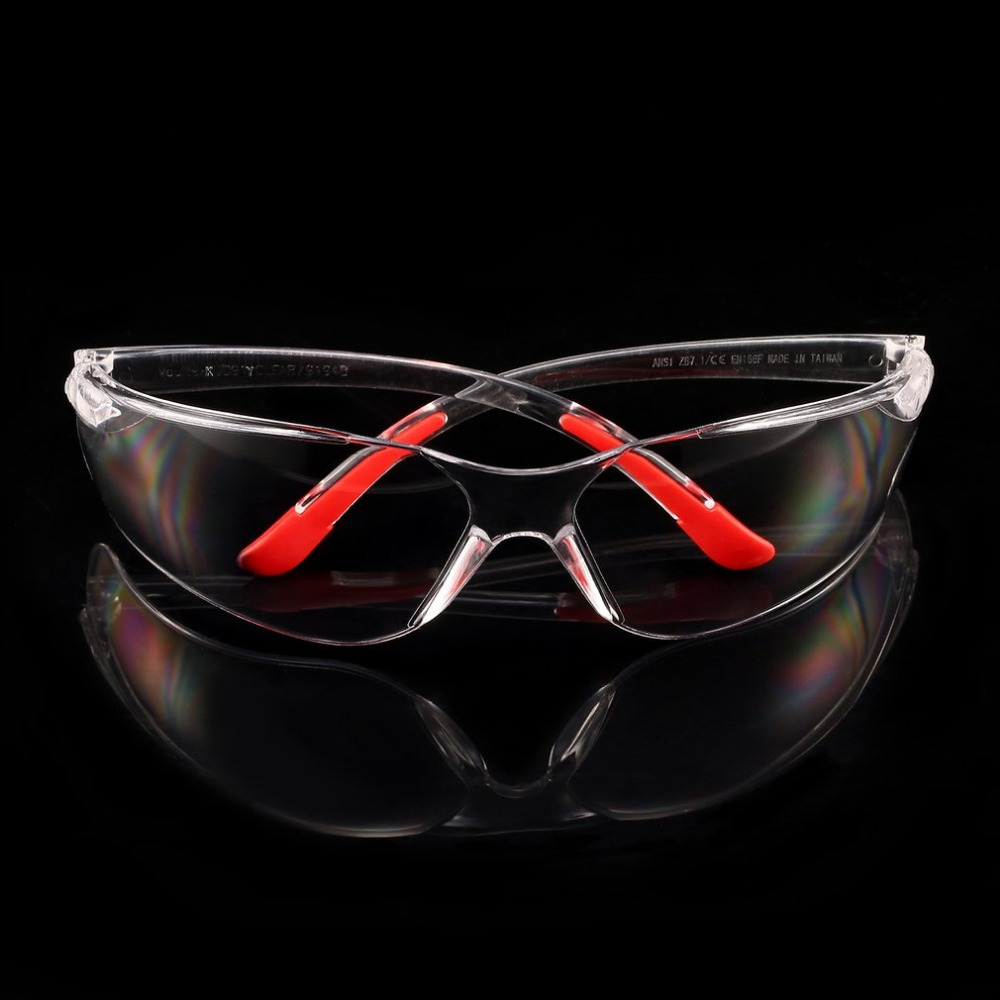 1 PCS Safety Glasses Lab Eye Protection Clear Lens  Workplace Protective Eyewear Safety Goggles Supplies Transparent Promotion