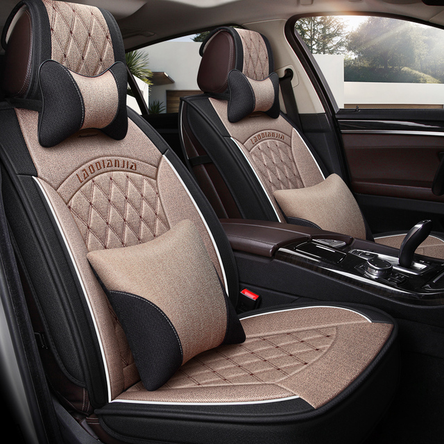 Car Seat Cover General Cushion Flax Car pad Car Styling For Benz BMW Lincoln Honda SUV All models
