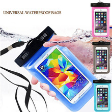 Hot 1pc Waterproof Mobile Phone Case Pouch For Samsung Galaxy E7 E700,Universal Sealed Bags Cover with neck strap
