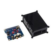 Sale Raspberry pi 3 Audio Sound Card Module I2S interface HIFI DAC expansion board+Black Acrylic case for Raspberry pi 2 /3 model B