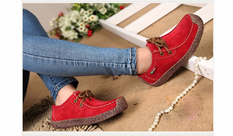 Hot Sale 2016 Winter Warm Women Flats Leisure Solid Comfortable Women Casual Shoes New Fashion Wild Lace-up Ladies Shoes SDT90 (5)