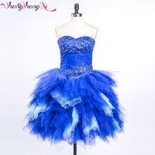 Kurze Heimkehr Kleider Ballkleid königsblau Tulle 2016 Heißer Verkauf Vestido De Festa Curto Cocktail Party Kleid SSX249