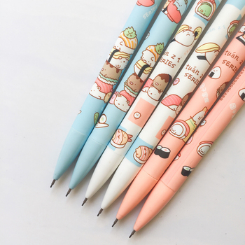3X Cute Sushi Family Press Automatic Mechanical Pencil With Eraser School Office Supply Student Stationery - discount item  18% OFF Pens, Pencils & Writing Supplies