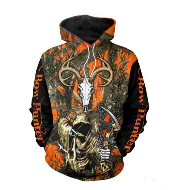 Grim Reaper Bow Hunter Camo 3D All Over Printed Clothes