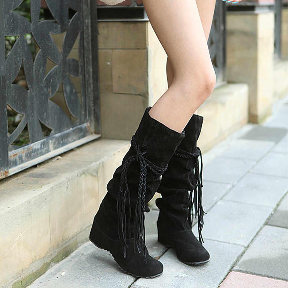 JAYCOSIN laarzen vrouwen Verhoog Platforms Dij Hoge Tessals Laarzen Motorfiets Schoenen winter laarzen vrouwen Sexy Solid Vrouwen Laarzen 715