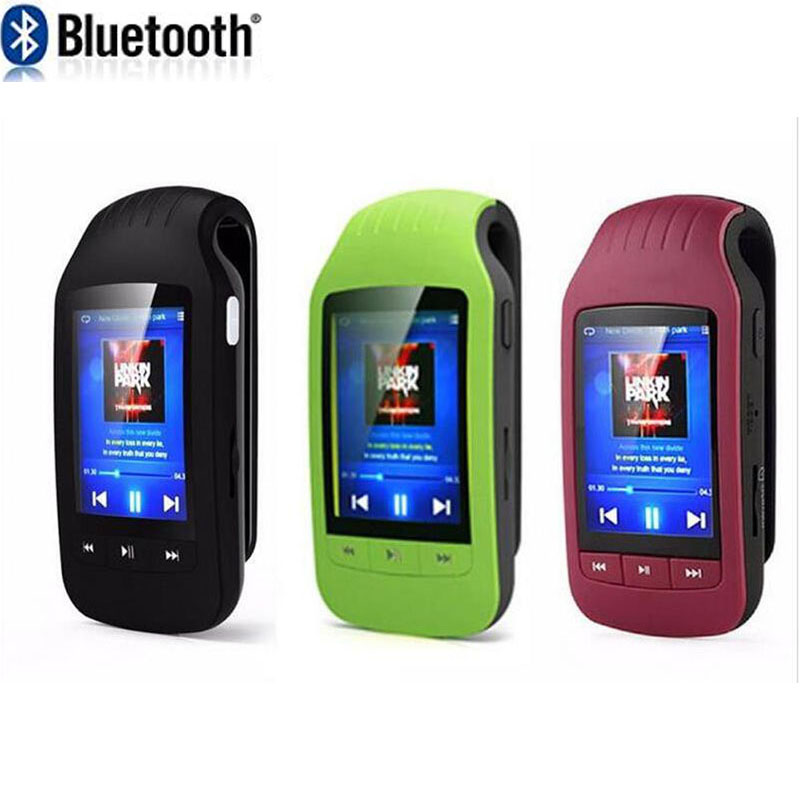 MU1037 Bluetooth Clip Sport MP3 player 8GB memory support Sport Pedometer FM Radio 1.8  LCD Screen MP3 Music Player