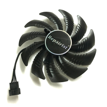 87MM GPU Cooler Fans Cooling Fan For Gigabyte GeForce GTX 1070 1050 Ti GTX 1060 RX 480 570 Video Graphics Card as Replacement original zotac video card geforce gtx 750 ti 1gb 128bit gddr5 1gd5 graphics cards for nvidia 1050 gtx750 ti 1gd5 hdmi dvi vga