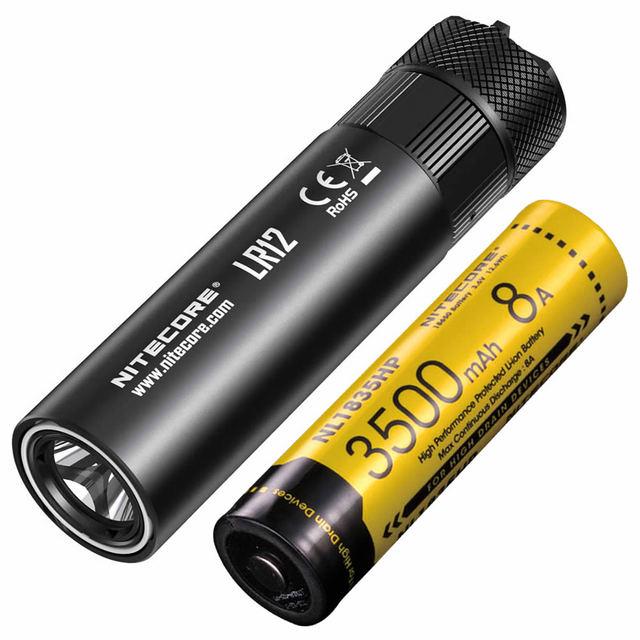 למעלה מכירות NITECORE LR12 18650 נטענת סוללה נשלף מפזר מאפשר פנס פנס קריאת קמפינג משלוח חינם
