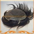 Реми волосы toupee для мужчин прямая волна выглядит очень естественно волос 100% Индийские волосы швейцарский шнурок и вокруг PU мужская парик