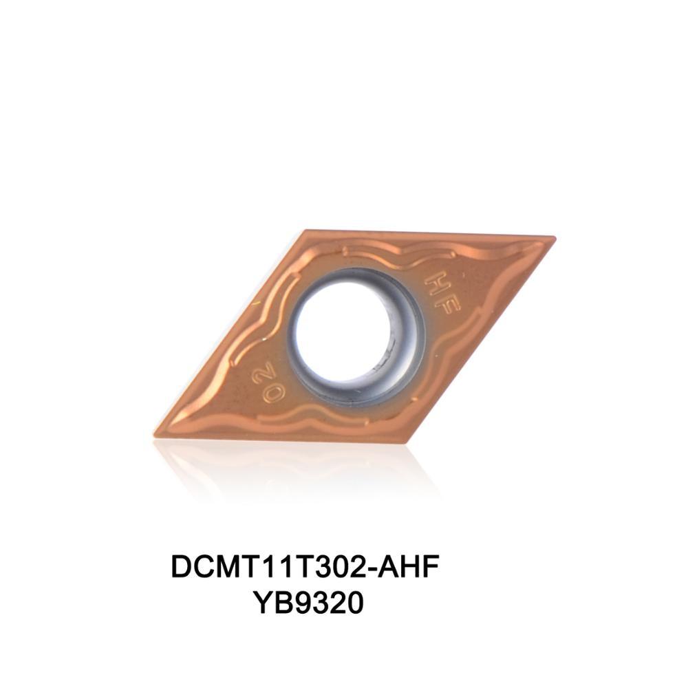 2016 m. Naujas CNC tekinimo įdėklas DCMT11T302-AHF YB9320, ypač efektyvus nerūdijančio plieno tekinimo įrankiui DCMT11T302, DCMT 11T302