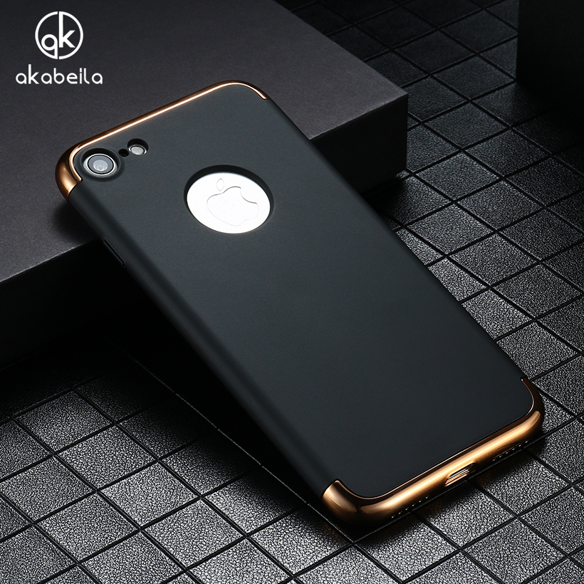 AKABEILA Phone Case For iPhone 7 Plus Case Fashion 3in1 Hard PC Ultra Slim Cover For Apple iPhone7Plus Pro Coque Fundas