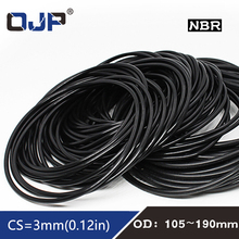 1PC Rubber Ring NBR Sealing OD105/110/120/125/130/140/150/160/170/180/190*3mm O-Ring Seal Nitrile Gaskets Oil Rings Fuel Washer