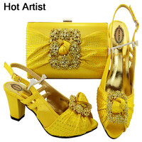 Hot Artist Italian Shoes With Matching Bags For Wedding Women Shoes And Bag To Match For