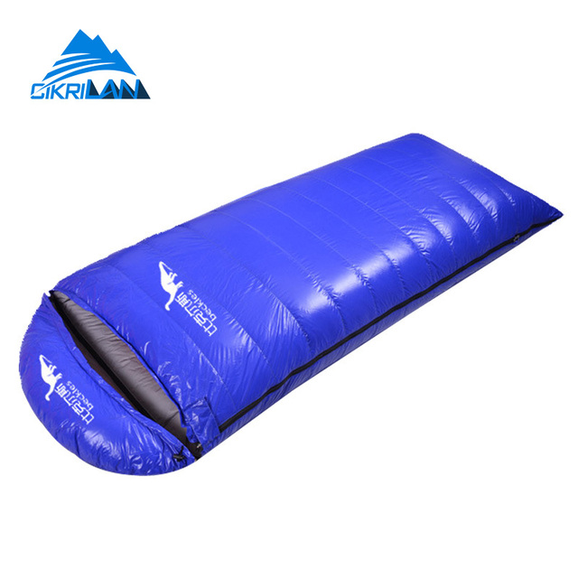 Outdoor Hiking Camping Equipment Envelope Warm Duck Down Sleeping Bag Ultralight Water Resistant Sacos De Dormir Compression Bag