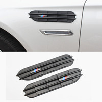 10pcs Black Decorative Front Fender Side Vent Grills Self Adhesive Air Flow Exterior For All BMW