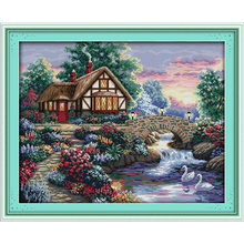 Everlasting love  Beautiful homeland (6) Chinese cross stitch kits Ecological cotton stamped DIY New year Christmas decorations