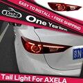 AKD Estilo Do Carro luz Da Cauda Lâmpada Traseira para Mazda 3 AXELA JP Lanterna Traseira de LED DRL LEVOU Sinal De Volta luz De Freio Parque Guia de luz de Travagem