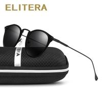 ELITERA Women Fashion Sunglasses Cat Eye Cateye Polarized Brand Designer Sun Glasses Coating Mirror Oculos Gafas