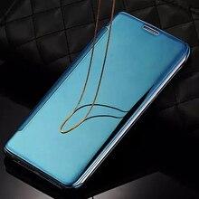 Ясное Зеркало Флип Чехол Для Samsung Galaxy S5 S6 S6 Edge S7 Край C5 C7 Примечание 7 Кожаный Телефон Случае Для Samsung S5 крышка(China (Mainland))