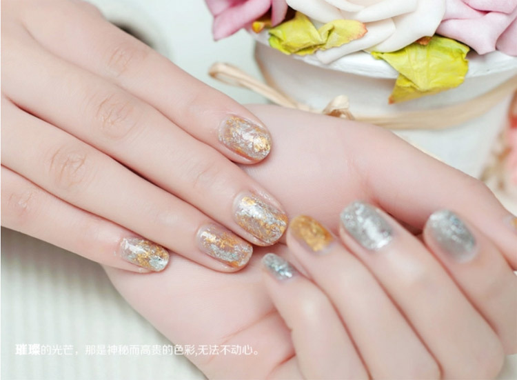 Gold Flake Gel Nail Polish - Absolute cycle