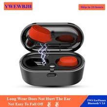 YWEWBJH TWS Fingerprint Touch Bluetooth Earphones v5.0 HD Stereo Wireless Headphones Noise Cancelling