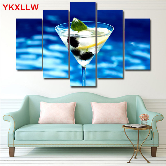 Superior Cocktail Drink Wine Print Canvas Painting Spray Paintings Modular Picture  Printed Wallpaper For Living Room Bar Ideas