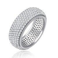 Envío gratis completo pequeño brillo de cristal de piedra anillos para las mujeres blanco 585 del color del oro de piedra de la cz joyería de la boda bague anel BB196