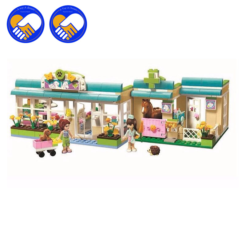 (A Toy A Dream)2017 new Friends series the Heartlakes Vet Model Building Block Classic girl toys figures Compatible with new 7033 friends series the city park cafe pirate ship model building block classic girl toys compatible with lepin