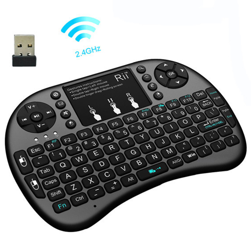 Original Rii i8+ Mini Keyboard Backlit 2.4G English Version Keyboards and Mouse Combo for Mini PC Google Adroid Smart TV Box PS3