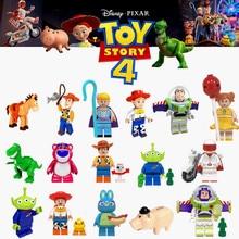 Toy Story 4 Forky LEGOED Figures Gremlins Gizmo Stitch Mario Alien E.T. С Эллиотом строительные блоки игрушки для детей