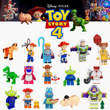 Toy Story 4 figurines LEGOED Forky Gremlins Gizmo point Mario Alien E.T. Avec des blocs de construction Elliot jouets pour enfants(China)