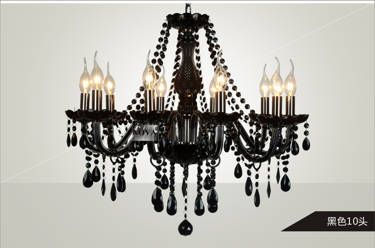showcase hallway black Chandelier Led chrome Candle Lighting Hotel fixtures  lampe Bedroom Dining Room Modern glass chandeliers - us455 e616b94aac