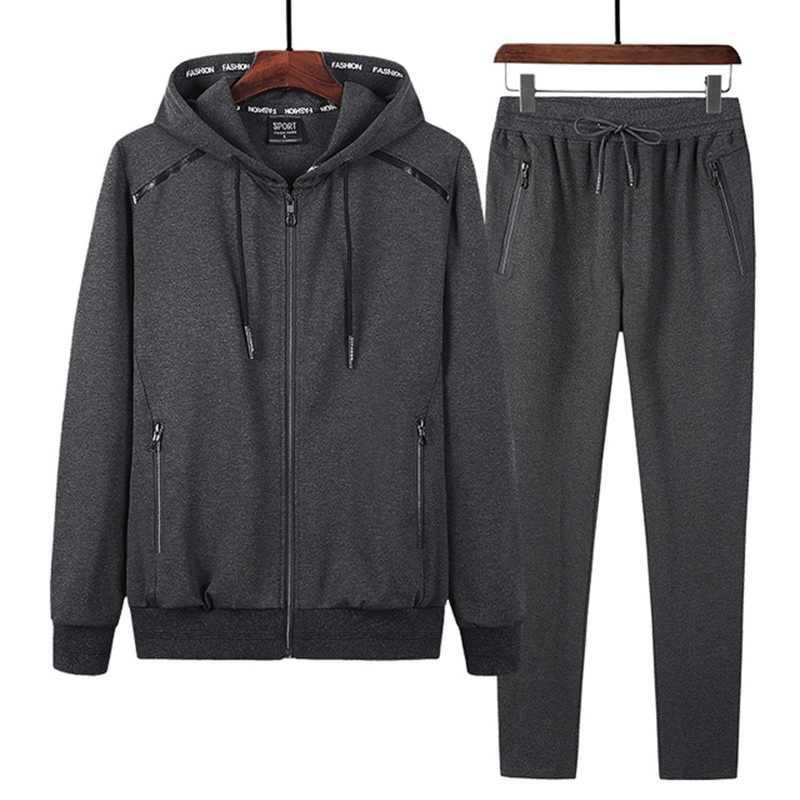 Wiosna i jesień strój sportowy Plus rozmiar handlu odzież sportowa męska z długim rękawem męskie zestawy 9XL 8XL 7XL