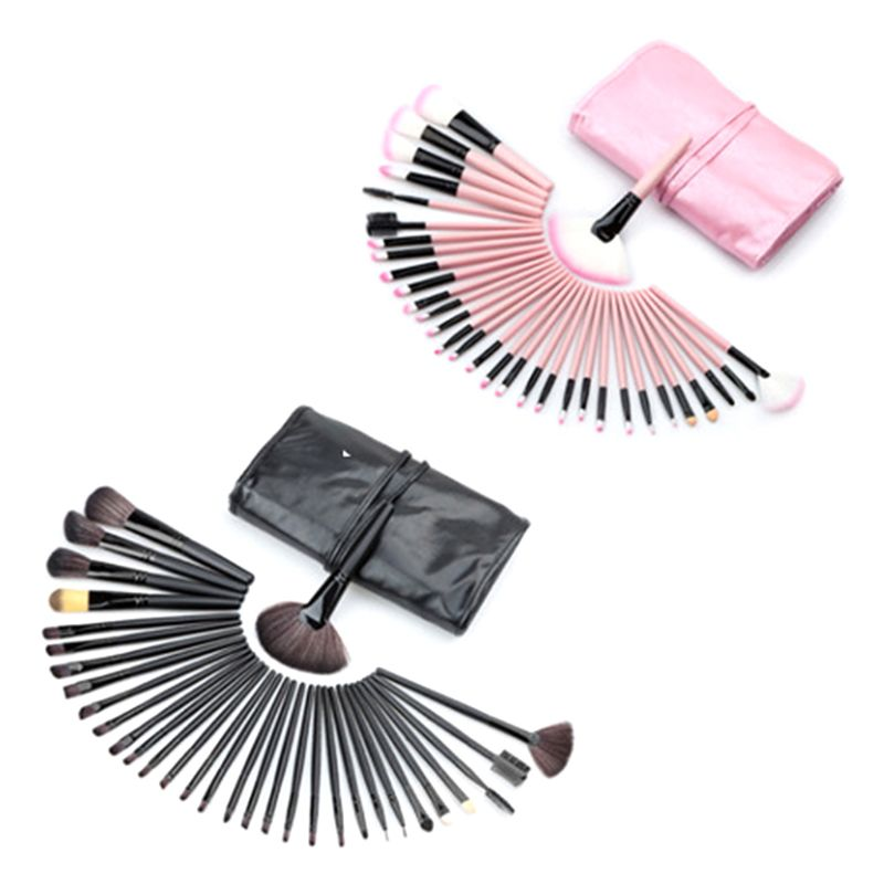 1 tasche <font><b>32Pcs</b></font> Pro Make-Up Pinsel Kosmetik Werkzeug <font><b>Kit</b></font> Augenbraue Schatten Pulver Pinsel <font><b>Set</b></font> Tasche Make-Up Pinsel image