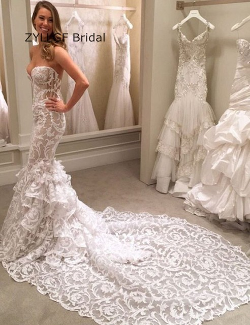 Mermaid Sweetheart Lace Wedding Dress