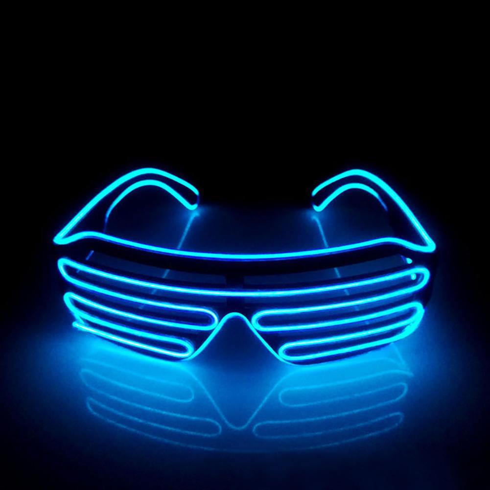The Cheapest Price Wholesale El Wire Flashing Light Up Shutter Glasses Shades Eyewear Party Concert Favor Jade White Men's Glasses Men's Eyewear Frames