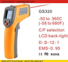 2017 New GS320 Factory Hot Sale Handheld Laser IR Infrared Thermometer -50 to 320 Degree