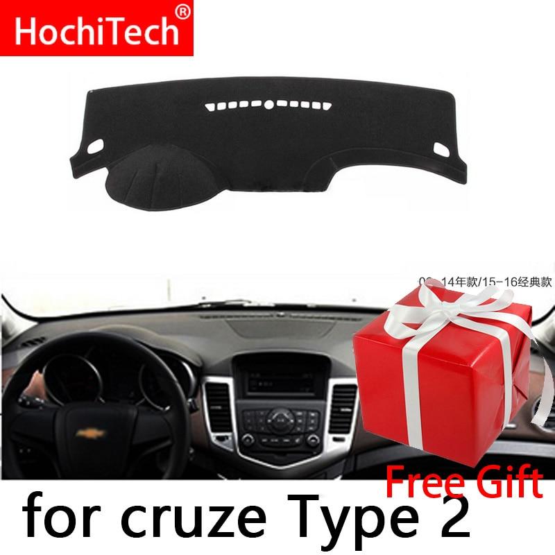 Чехлы на приборную панель автомобиля для Chevrolet Cruze 2009 2010 2011-2014, чехлы на приборную панель правой и левой рукой, коврик, тент, подушка, коврики, ...