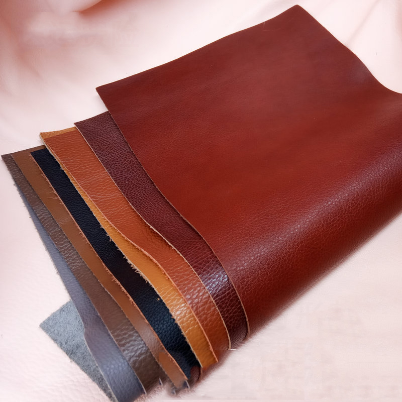 Leather piece Genuine Natural Leather Craft for DIY Leather Craft Belt Knife Handle Material Leather Fabric image