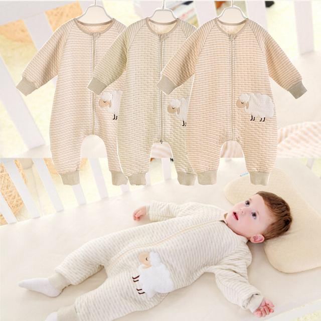 Romper infant children cotton sleeping bags warm spring and autumn air-conditioned room sleeping bag organic cotton wholesale