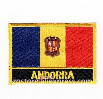 Andorra country shield flag sticker vinyl decal