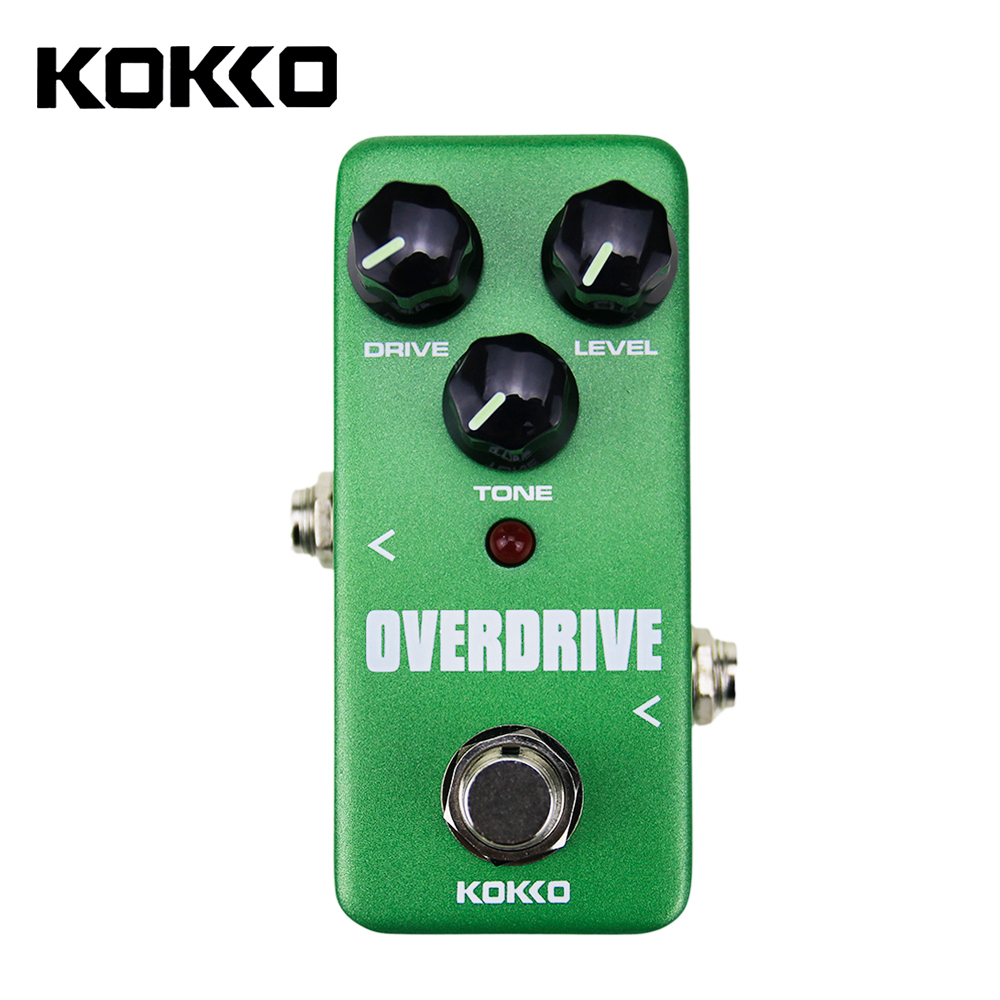 High Quality Mini Overdrive Pedal Portable Guitar Effect Pedal KOKKO FOD3 kokko frb2 mini space pedal portable guitar effect external ac adapter delivering 9v dc regulated guitar parts
