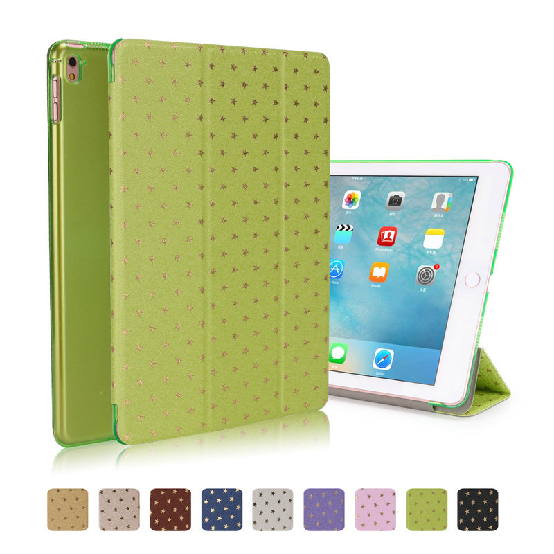 Mini 4 Tablet PC Ultra Slim Magnetic Smart Stars Leather Case with Matte back case for Apple iPad mini 4 with Retina Display