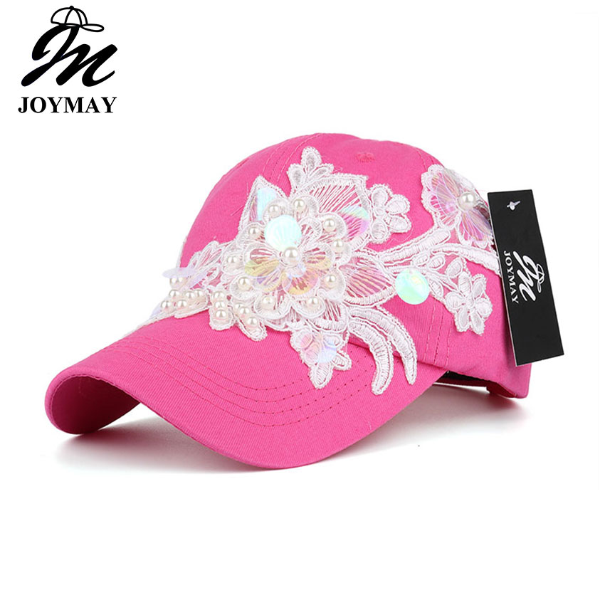 JOYMAY Spring New Fashion Women Baseball cap with Flower Embroidery Adjustable Leisure Casual Snapback HAT B446 joymay quick drying casual baseball cap breathable snapback sun hat fishing hat fashion cap b293