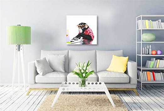 100% Hand Painted Animal Computer Gorilla Modern Wall Art