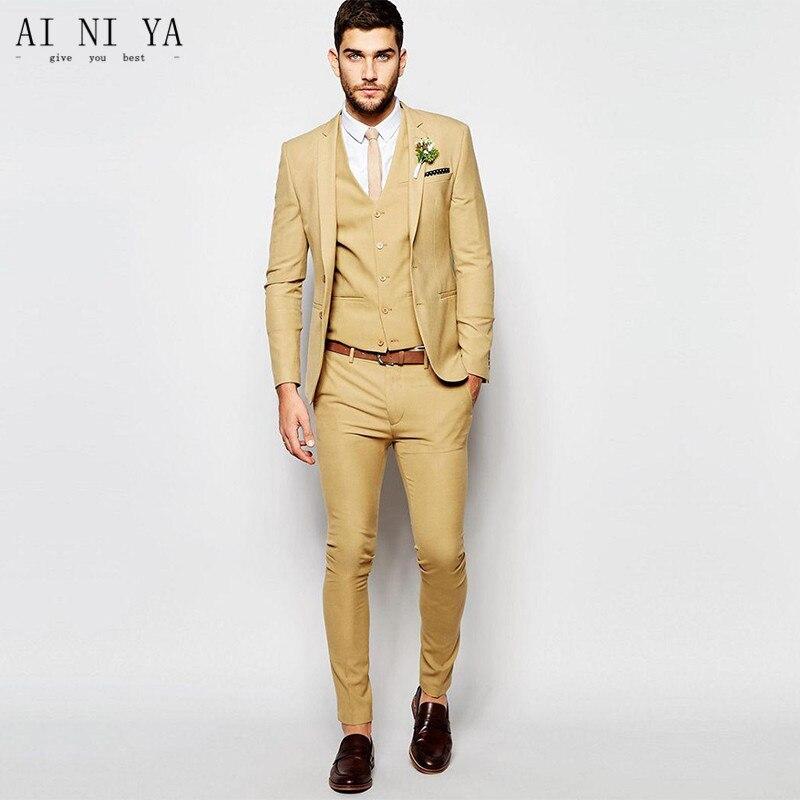 Здесь продается  Golden Men Suit Slim Fit Tuxedos Custom Made New Fashion Formal Business Suit Men