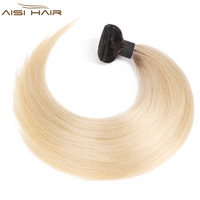 AISI HAIR Ombre Blonde Brazilian Straight Hair Weave Bundles Non Remy 1B 613 Ombre Human Hair Bundles 100% Human Hair Extension